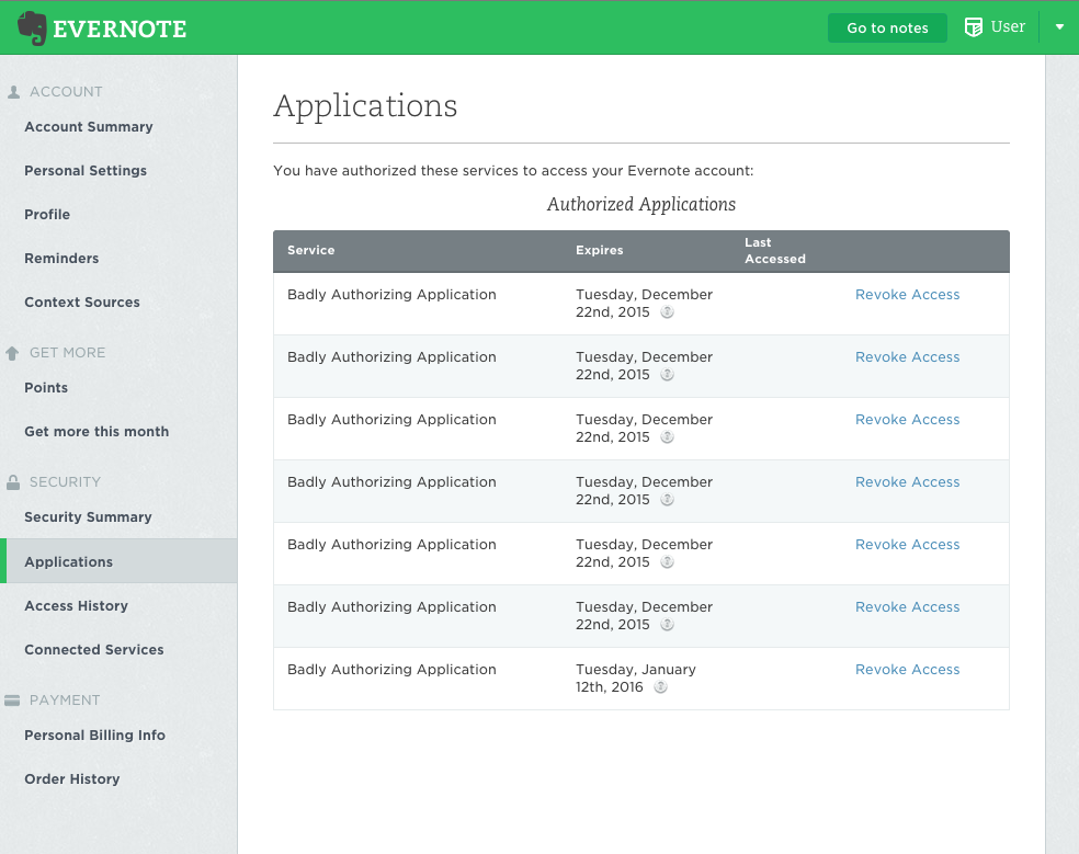 Handling Revoked or Expired Authentication Tokens - Evernote Developers